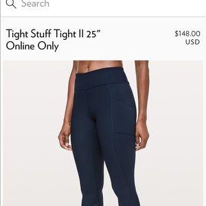 Dark teal lululemon 7/8 leggings retail $148
